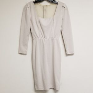 Alice + Olivia Beige Square Neck Shift Dress XS